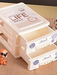 1 pièce en plastique imprimé deux couches bureau armoires de rangement (livraison aléatoire)