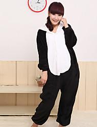 Unisex preguiçoso panda flanela Kigurumi Pajama