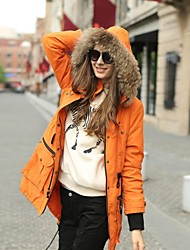 Veri Gude® Women's Raccoon Fur Collar Warm Parka Coat
