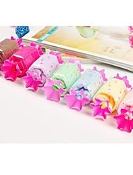 fibre de forme de cadeau d'anniversaire de bonbons serviette créatrice (couleur aléatoire)