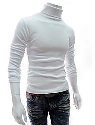 Banana Men's High Neck Bodycon Long Sleeve Shirt