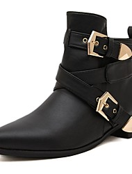 Women's Shoes Motorcycle Boots Pointed Toe Chunky Heel Ankle Boots