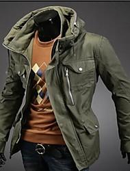 estilo coreano chaqueta larga media de corte ceñido para hombres manlodi
