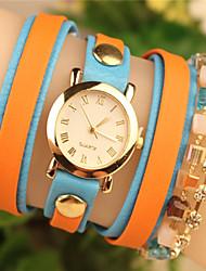 todo el metal partido de Abby mujeres&reloj de la pulsera de la PU