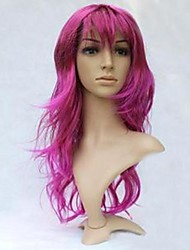 Purple Long Curly Wavy Wig