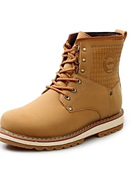 Men's Shoes Casual Leather Boots Brown/Yellow