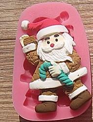 Natal Noel muletas bolo fondant ferramentas de chocolate bolo de silicone molde de decoração, l7.8cm * w5cm * h1.7cm