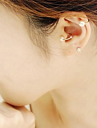 Earring Ear Cuffs Jewelry Women Wedding / Party / Daily / Casual Imitation Pearl / Gold Plated Gold / White