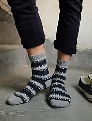 Men's Wool Socks Thick Jacquard National Wind Retro Socks