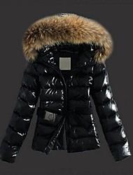 Women's Fashion Slim Fur Collar Down Cotton Coat