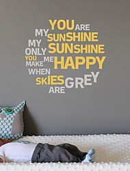 JiuBai® Quote You Are My Sunshine Wall Sticker Wall Decal, 58Cm*58Cm
