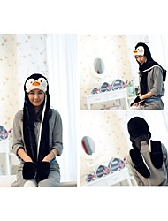 Unisex Long Section  Cute Penguin   Warm Fuzzy Kigurumi Aminal Beanie