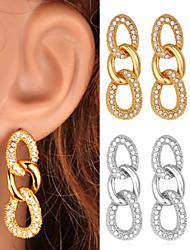 Pendants d'oreilles à long abandon des femmes U7 de luxe 18k platine plaqué or pour les femmes de haute qualité