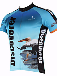 PALADIN Cycling Tops / Jerseys Men's Bike Breathable / Ultraviolet Resistant / Quick Dry Short SleevePolyester / 100% Polyester /