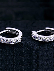 Weimei Women's Elegant Diamonade Silver Earrings