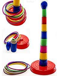 coloré palets anneau jeu de tirage au sort pour enfants