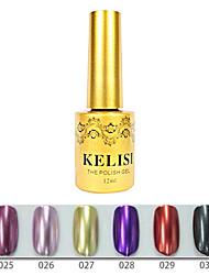 1PCS KELISI Professional Metal UV Color Gel NO.25-30(12ml,Assorted Color)
