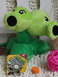 allhallowmas растения против зомби двойные горох плюшевые игрушки размером 14см