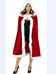 Extravagant Adult Women Red Cape Christmas Costume
