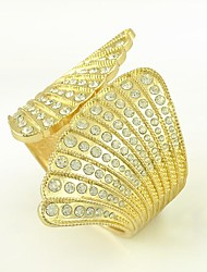 European and American Rersonality Simple Gold Angle Wing Zircon Metal Bracelet