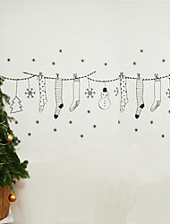 """frohe weihnachten cartoon Schläuche und Geschenke Fensteraufkleber (24,84 """"w × 15.72"""" l)"""
