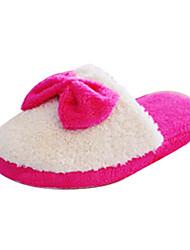 scarpe da donna punta rotonda ciabatte tacco piatto scarpe di velluto