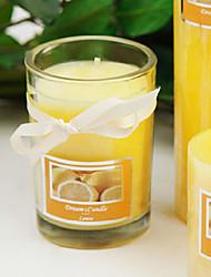 65 Hours Lasting Lemon Fragrance Paraffin Candle