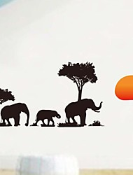 Wall Stickers Wall Decals, Mural Africa Elephant Home Decor PVC Wall Stickers