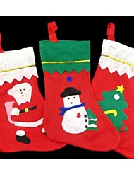 Christmas Tree Decor Stockings  Candy Socks Bag 35*25cm Random Pattern