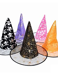 Double Witches Hat  Halloween  Masquerade  Supplies (Color Random)