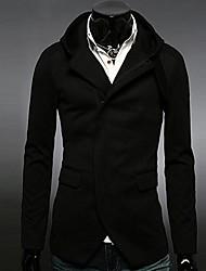 moda com capuz casuais de manga longa casaco masculino