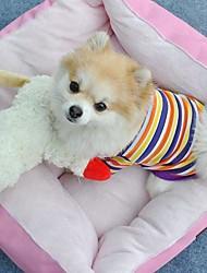 Dog / Cat Shirt / T-Shirt Yellow Summer Stripe Wedding / Cosplay