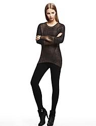 OSA ® Women's O-neck Long Sleeve Patchwork  Minimalist Loose Sweaters