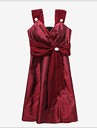 Women's Sexy / Party Dress , V Neck Above Knee Satin