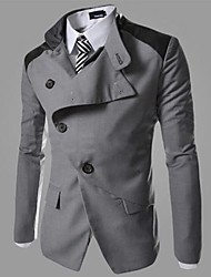 Männer schräge Tasten-Design Casual Langarm-Blazer