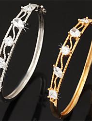 Goud / Zilver / Legering Dames Ronde Armbanden Armbanden Bergkristal