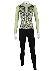 PaladinSport Women's Spring and Summer and Autumn Style 100% Polyester Spring Song Long Sleeved Cycling Suits