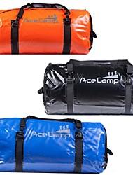 outdoor camping opvouwbare waterdichte droge zak duffel 90l 74x33cm (oranje blauw zwart)