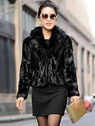 cappotti di pelliccia giacca di pelliccia giacca di pelliccia sottile moda femminile