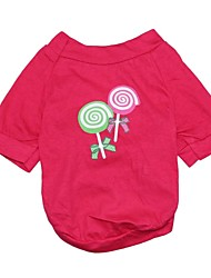 Lollipop Present Pattern Cotton T-Shirt for Dogs (Assorted  Sizes)