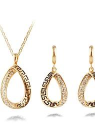 Vintage Collier de pétrole et de boucles d'oreilles ensemble de bijoux contrat