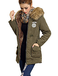 LENA Women's Fashion All Match Winter Cotton Long Coat