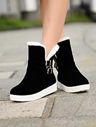 botas de los zapatos de nieve de las mujeres botas bajas de tobillo del talón con hebilla más colores disponibles