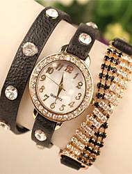 Мак женщин все имитация матч бриллиантовый браслет часы