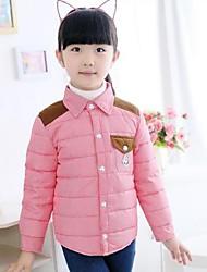 Kindermode Persönlichkeit Check Revers warmen Mantel