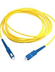 10m 30 pés sc a fibra sc patch cord cabo de ligação sm simplex óptica única modalidade para a rede de transporte livre