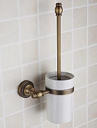 Toliet Brush Holder,Antique Brass Finish Brass Material,Bathroom Accessory
