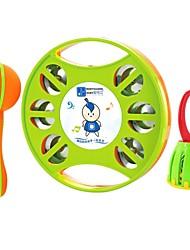 bébé instrument de musique en trois pièces anneau poignée de sable du tambourin de marteau de la cage cloche jouets éducatifs pour bébés
