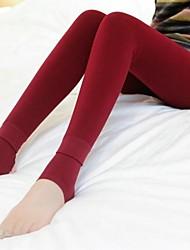 Women's Winter Super Soft High Density Nylon Trample Feet Leggings with Flannelette