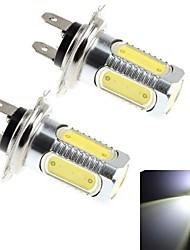 2Pcs H7 7.5W 5x Epileds COB 600LM 6000K White Light LED for Car Headlamp / Fog Lamp (DC 10-30V)